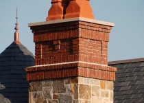 Materials: terracotta chimney pots