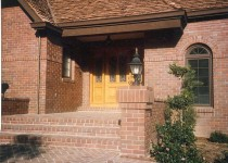 Material: Brick veneer and paving