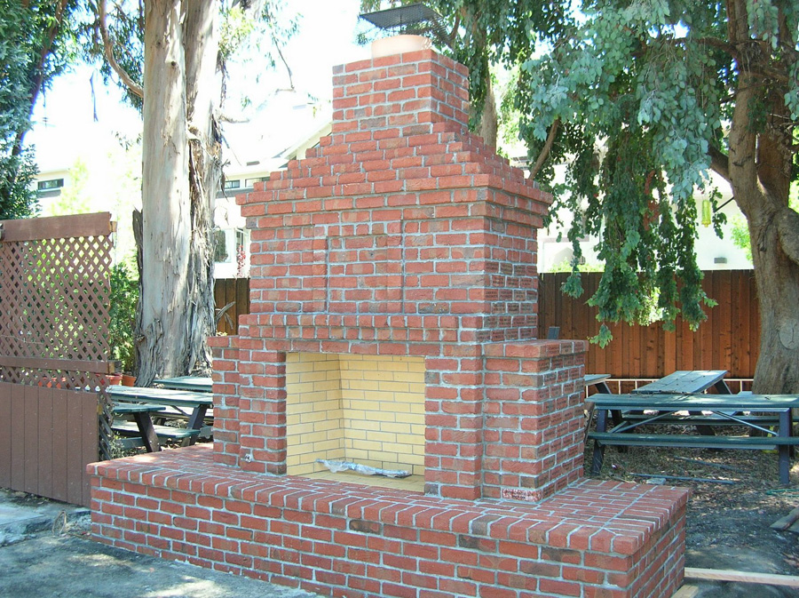Wl 353 Outdoor Brick Fireplace Walton, Outdoor Brick Fireplace Pictures